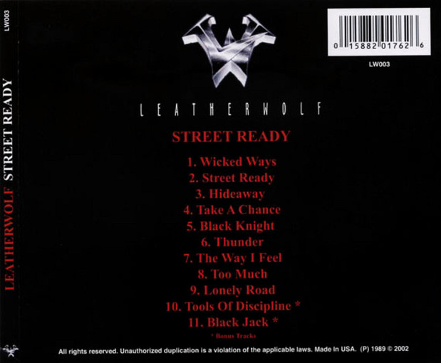 LEATHERWOLF - Street Ready [Remastered +2] back