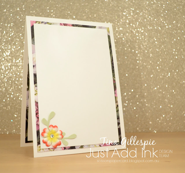 scissorspapercard, Stampin' Up!, Just Add Ink, Petal Promenade DSP, Sprig Punch, Notes Of Kindness