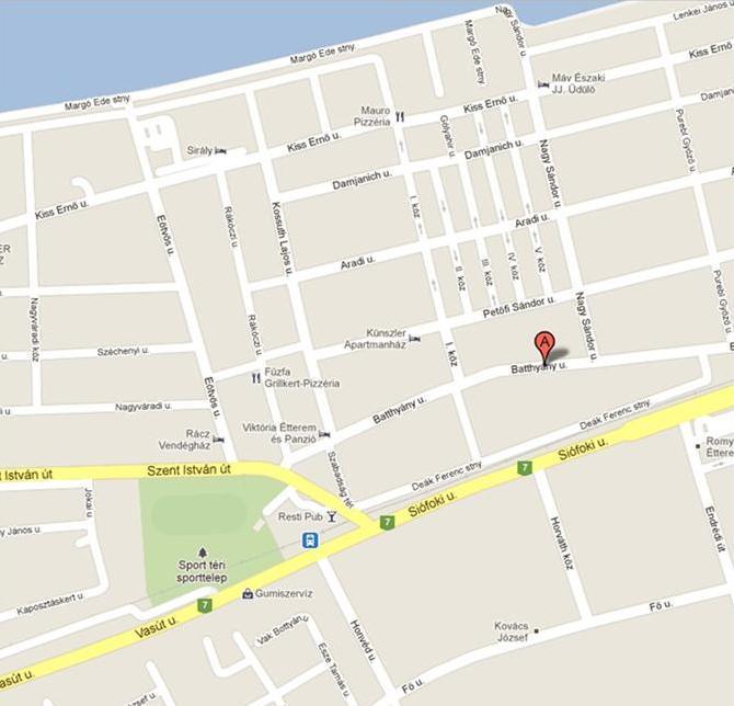 zamárdi térkép Zamárdi szállás: Térkép zamárdi térkép