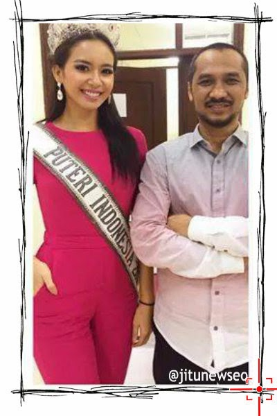 Putri Indonesia 2014 dan Ketua KPK berfoto berdampingan