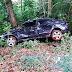 Motorista capota veículo após desviar de um cachorro