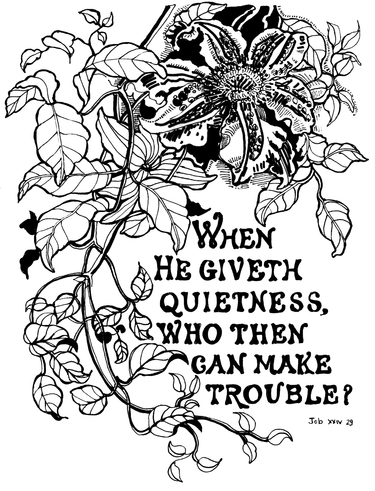Job 3429 passion flower free coloring pages printables for kids