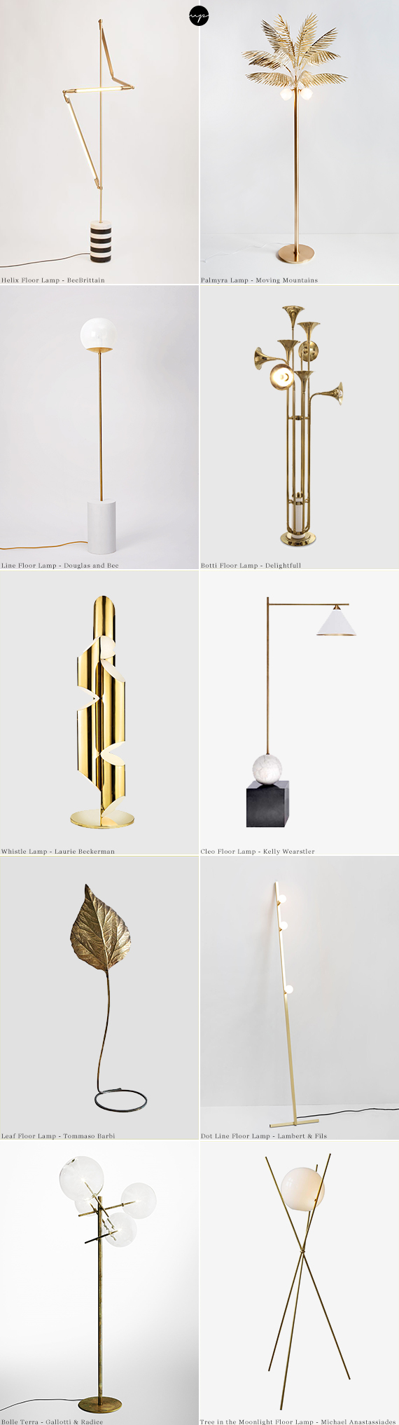 10 breathtaking sculptural floor lamps | My Paradissi