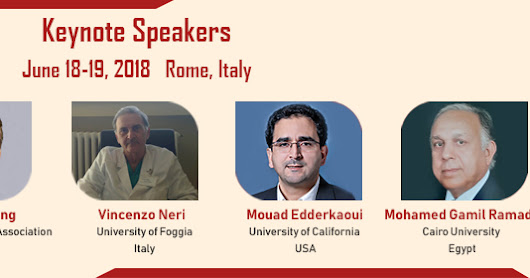 Proudly releasing our Keynote Speaker #Pancreas 2018#Meet them and clarify your doubts!