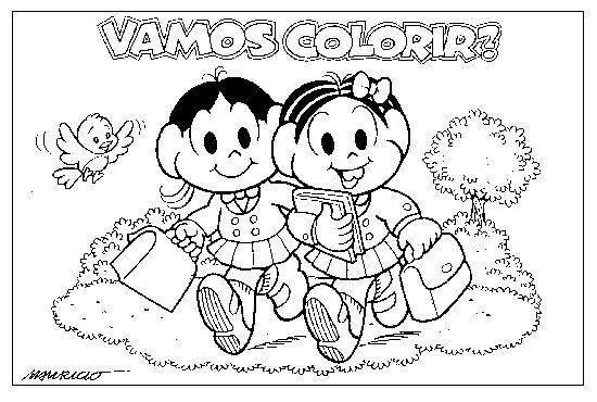 Desenhos Para Colorir Turma Da Monica 03 Atividades E Desenhos