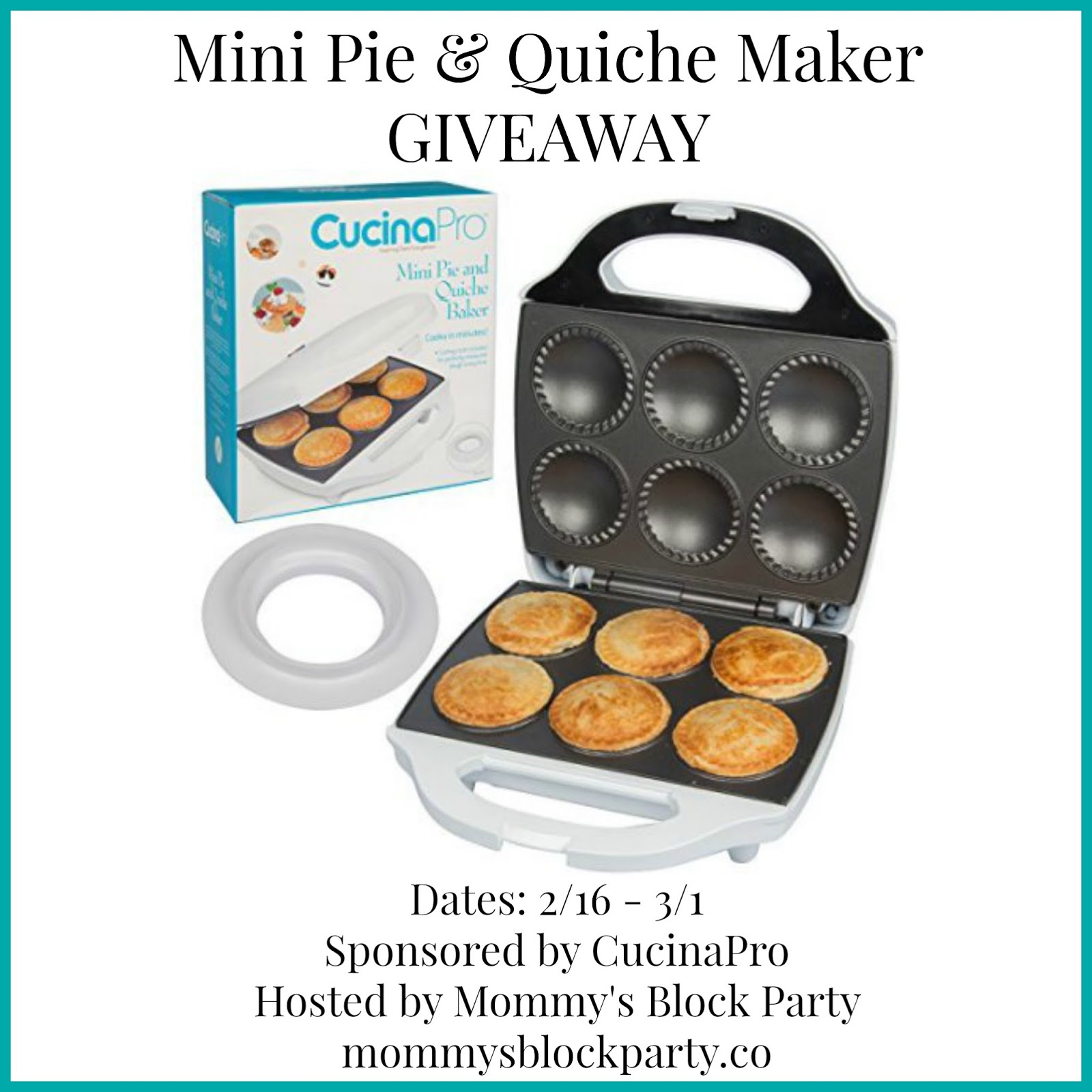 Amazon Cucinapro Rock Your Kitchen Like A Pro With The Mini Pie Quiche Maker From