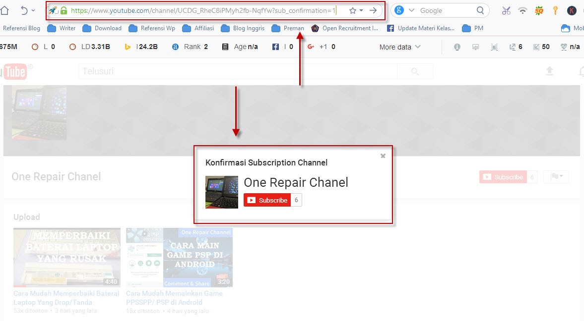 how to make a subscribe link for youtube 2017
