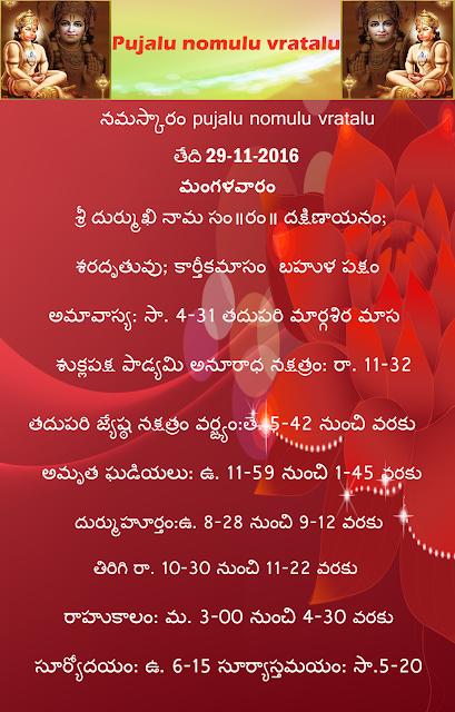 Today's panchangam in Telugu,rasi phalalu