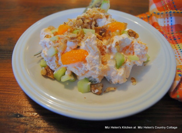 Crunchy Orange Fluff Salad at Miz Helen's Country Cottage