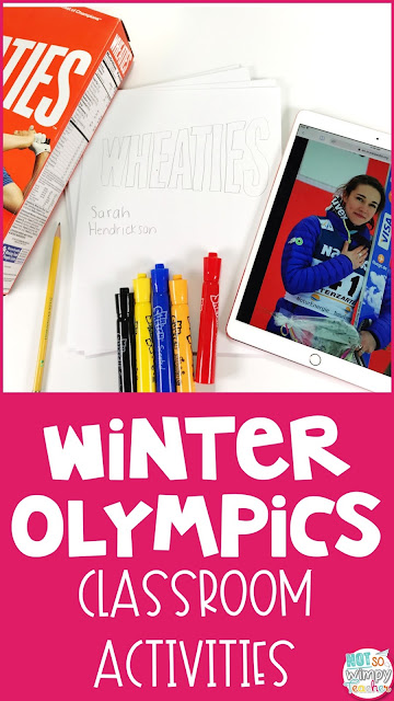 Fun academic classroom activities that involve the Winter Olympics!