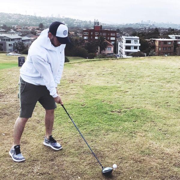 Nick playing Golf