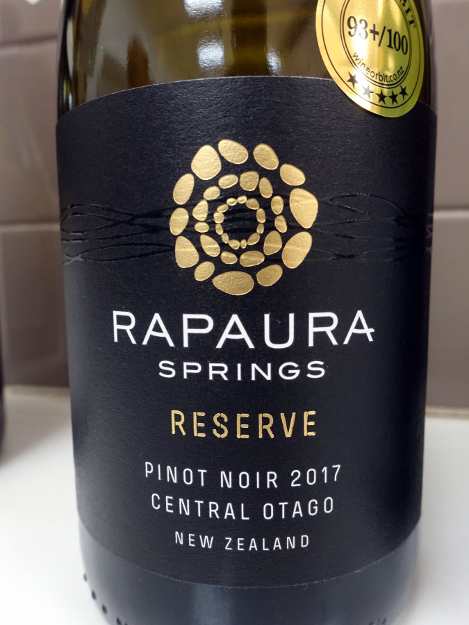 Rapaura Springs Reserve Pinot Noir 2017 (90 pts)