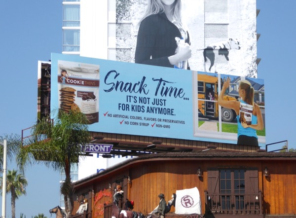 Thinsters Cookie Thins Snack time billboard