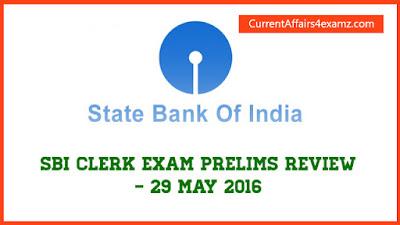 SBI Clerk Prelims 2016