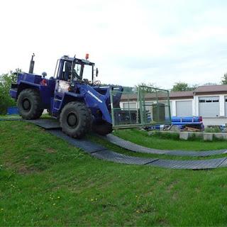 Greatmats Heavy Equipment Mats over Grass