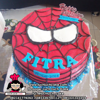 Kue Tart Ulang Tahun Buttercream Spiderman