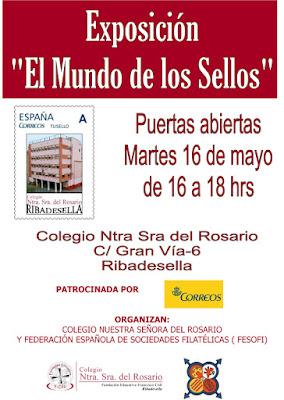 """Puertas abiertas a la Exposición """"El Mundo de los Sellos"""", la didáctica itinerante, en el Colegio Nuestra Señora del Rosario, Ribadesella"""