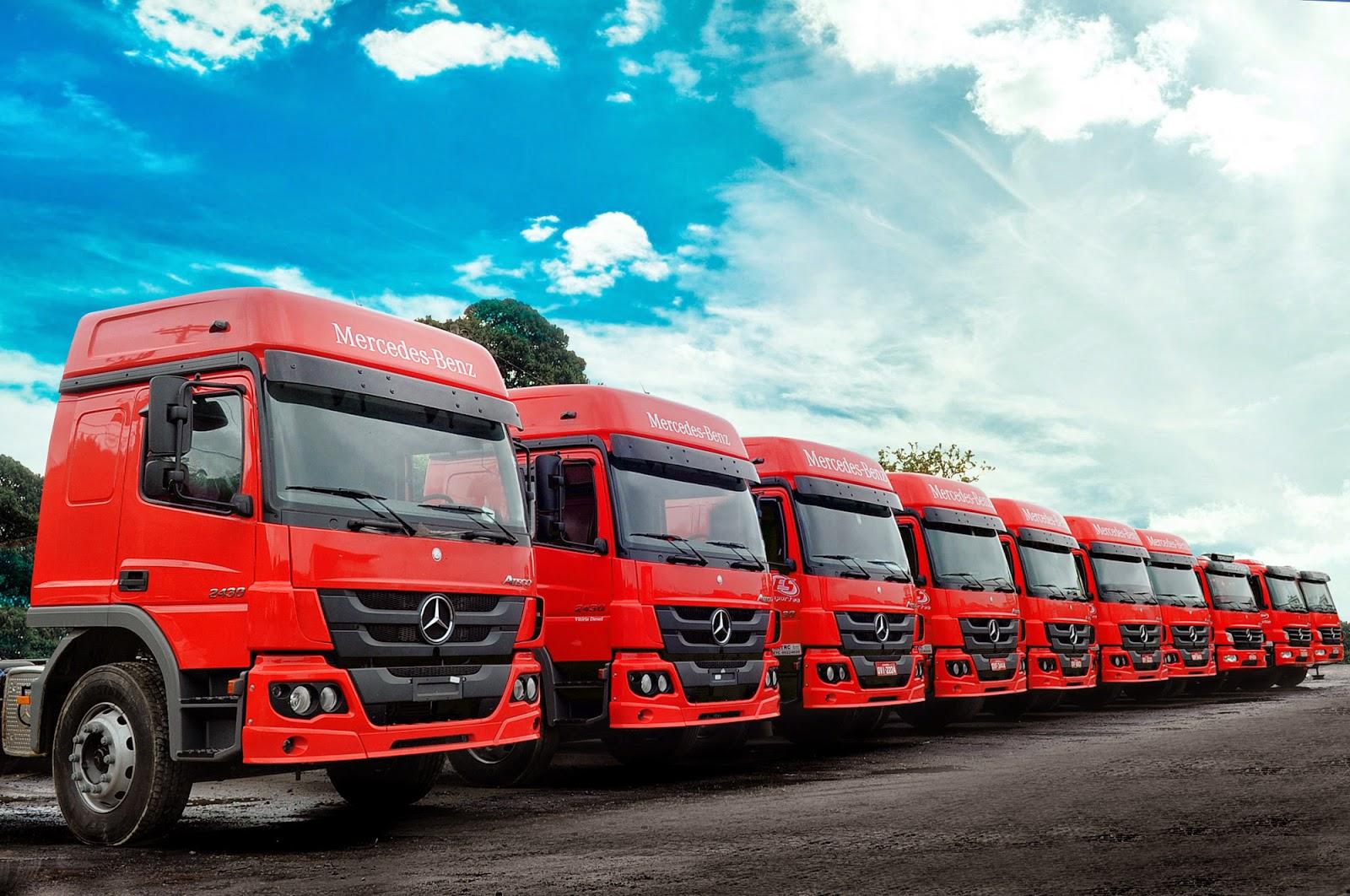 Os caminhões semipesados Atego da Mercedes-Benz seguem contando com total  aprovação da ES Transportes 625451ecd6e6b