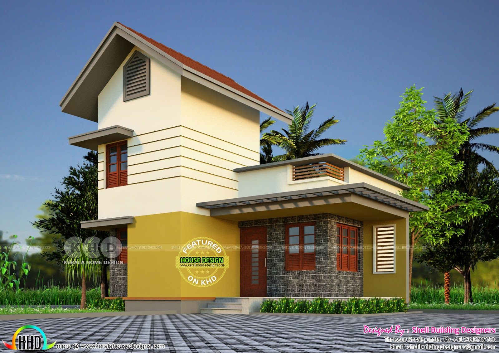 700 Sq-ft Home With Different Elevations