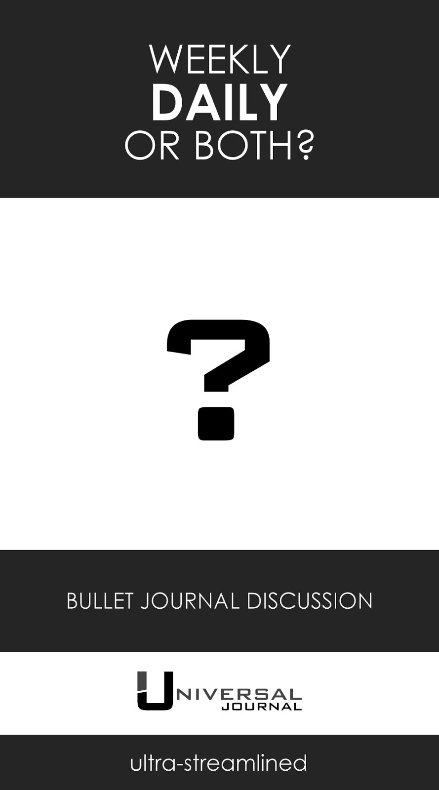 bullet journal weekly daily discussion