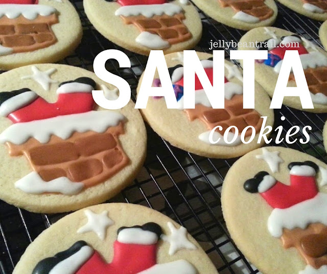 Santa cookies going down the chimney jellybeantrail.com