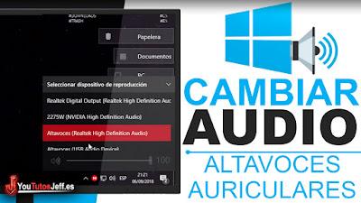 salida de audio windows 10