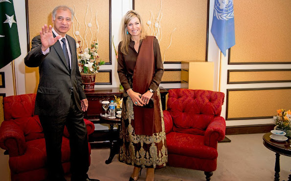 Queen Maxima of The Netherlands during an meeting with the UNDP and international partner organizations at the Serena hotel in Islamabad, Pakistan