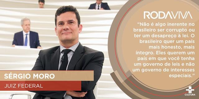 Sergio Moro no programa @roda viva