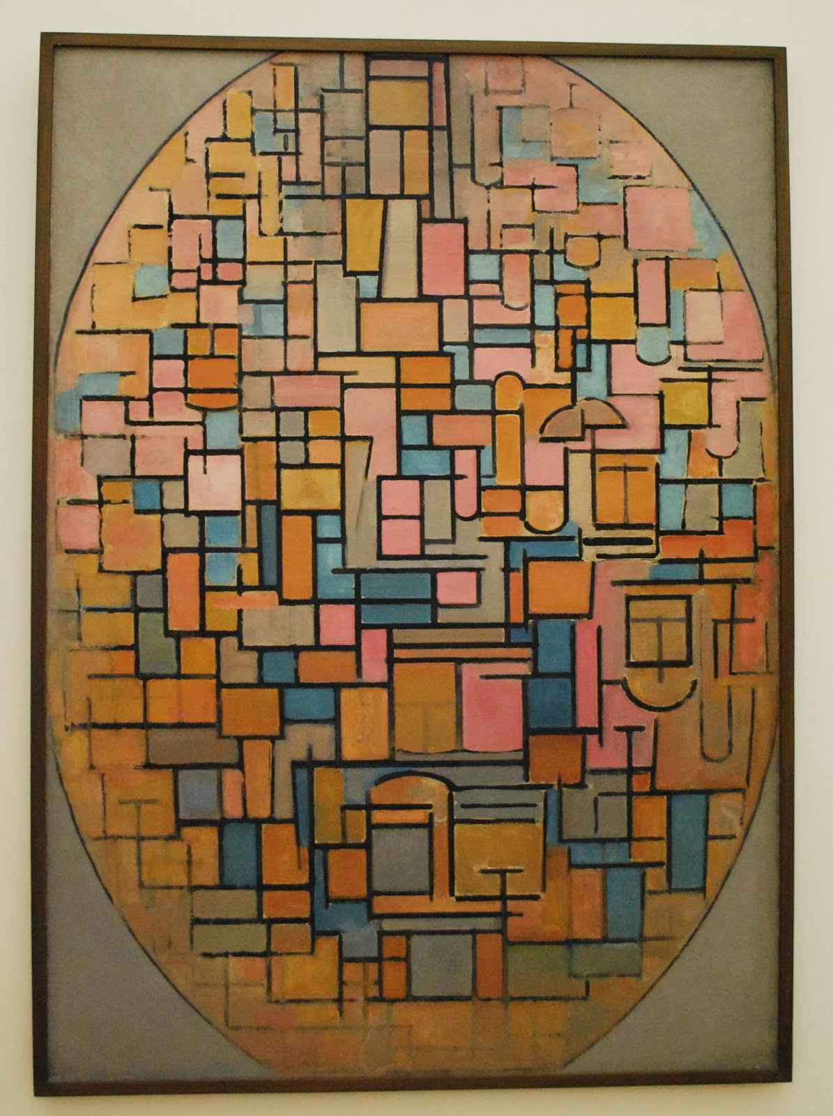 Mondrian Composition in Oval 1914 Amsterdam