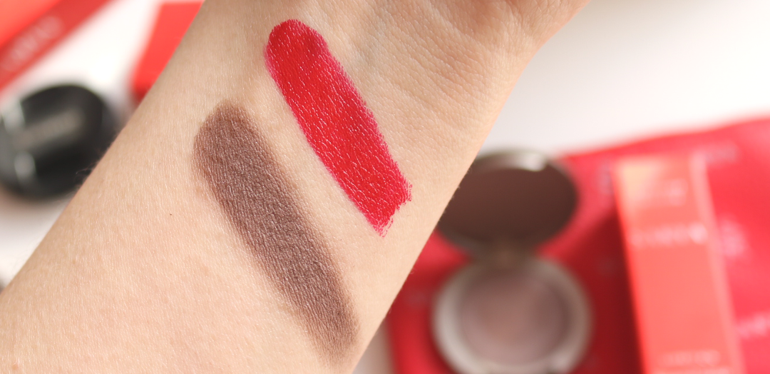 Swatches! SARYA Couture Makeup Eyeshadow in Mocha and Lipstick in Lovecraft