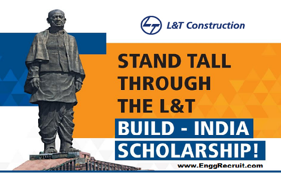 L&T Construction Build India Scholarship 2019