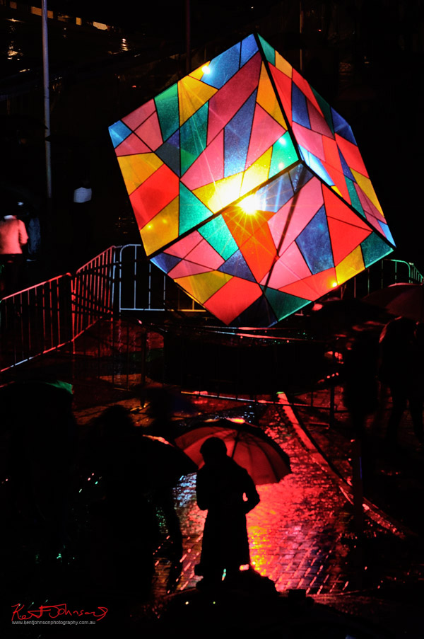 Vivid Sydney Light Sculpture 2012, Colour3 by Richard Neville, Daniel Mercer, Alex Grierson and Michael Gearin.