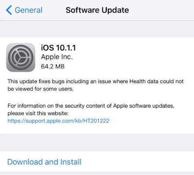 Download iOS 10.1.1 IPSW For iPhone, iPad And iPod [Direct Links]