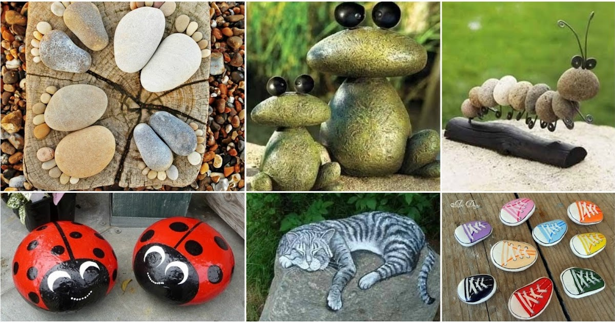 31 ideas espectaculares para decorar tu hogar y jard n con for Piedras rio para jardin
