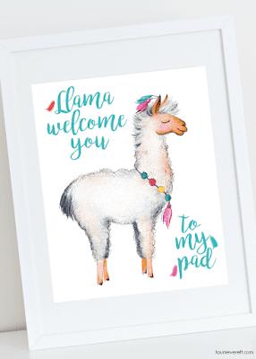 llama free printables