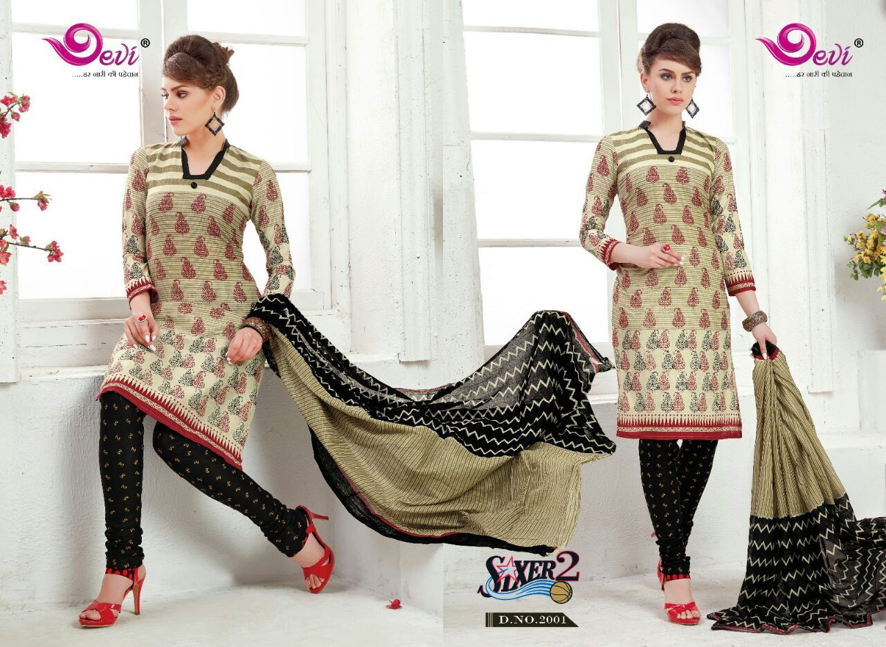 Sixer 2 – New Printed Churidar Dress Material Buy Online