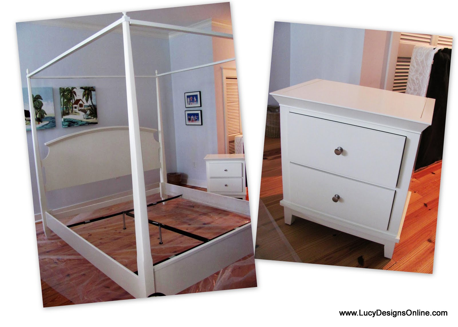 This King Bed And Two Nightstands Started Out White I Was Hired To