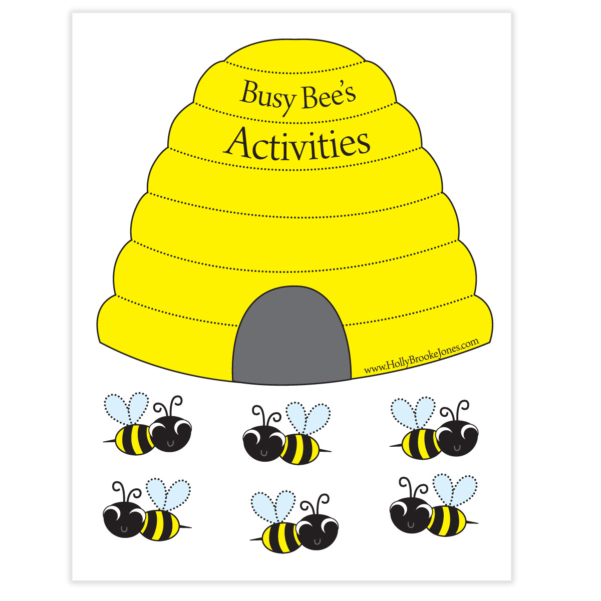 Holly Brooke Jones Busy Bee Chore Chart For The New Year