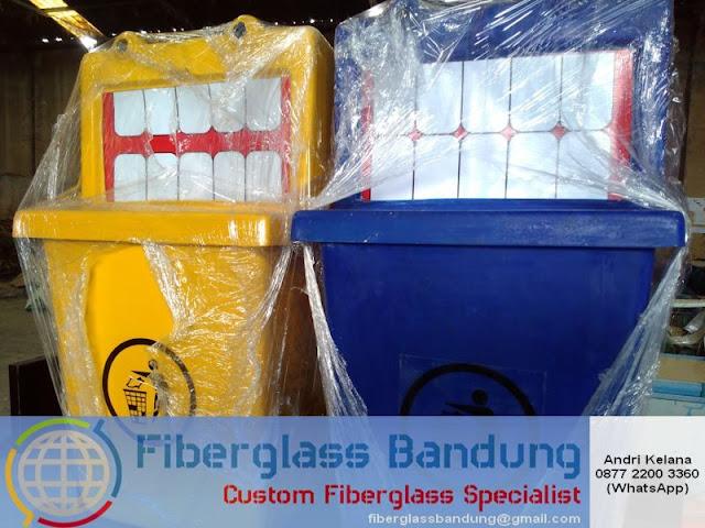 tong sampah fiber unik