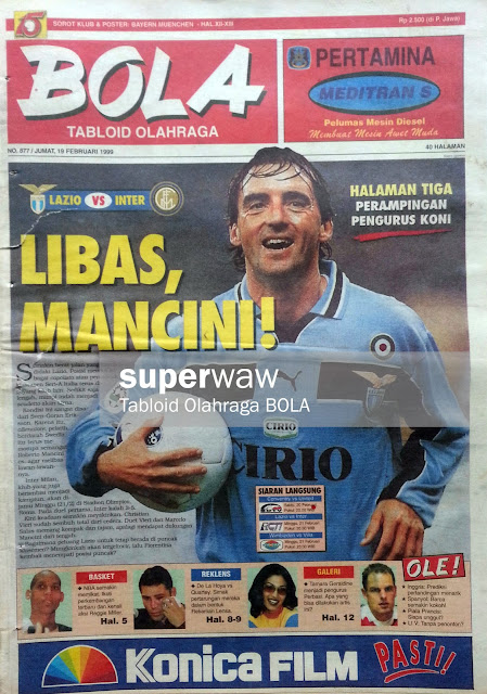 Tabloid BOLA: LIBAS MANCINI