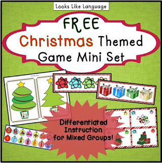 Try some free Christmas language fun from Looks Like Language!