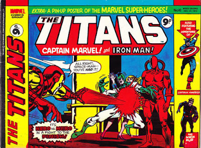 Marvel UK, Titans #10, Iron Man vs Captain Marvel