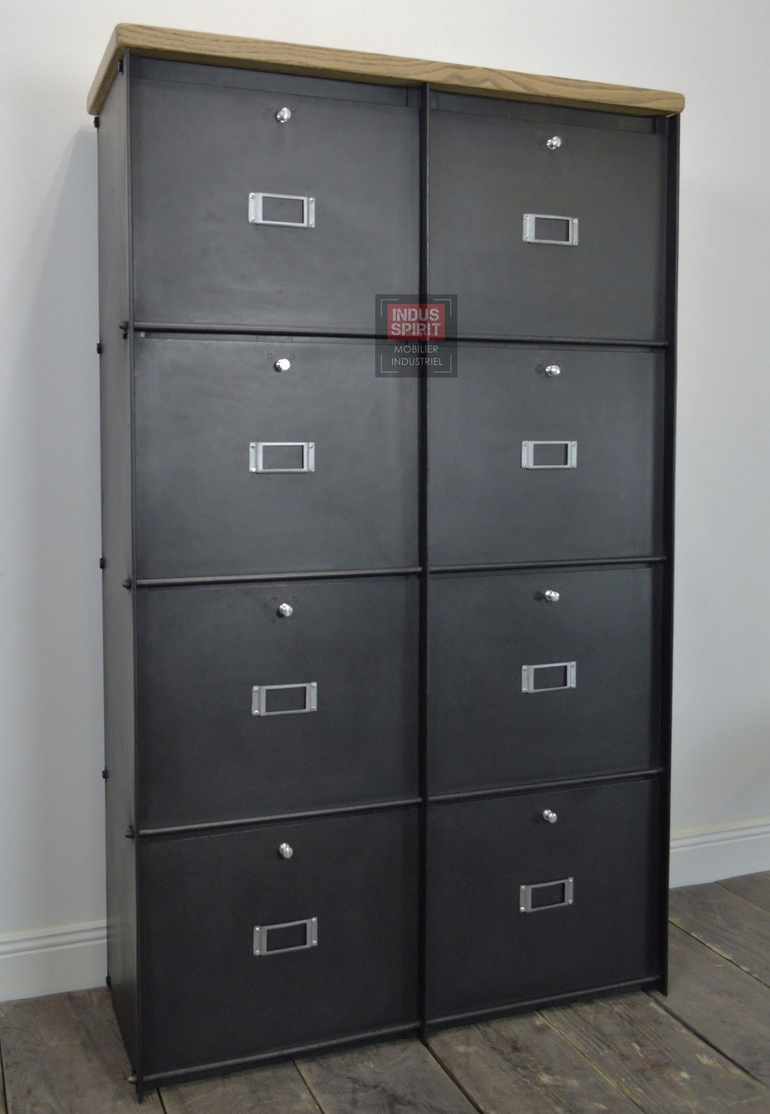 meuble clapet labor m tal. Black Bedroom Furniture Sets. Home Design Ideas