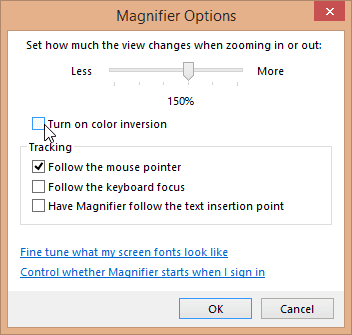 Magnifier Color Inversion
