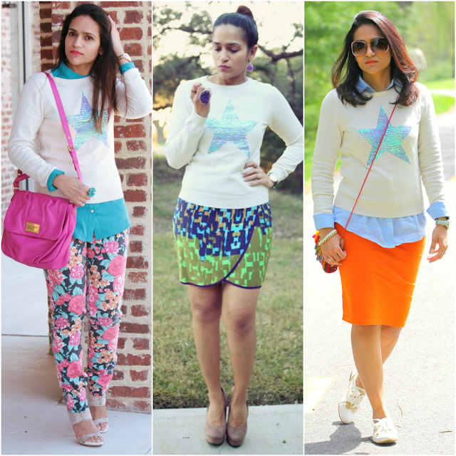Three Ways To Style A Light Sweater Tanvii.com