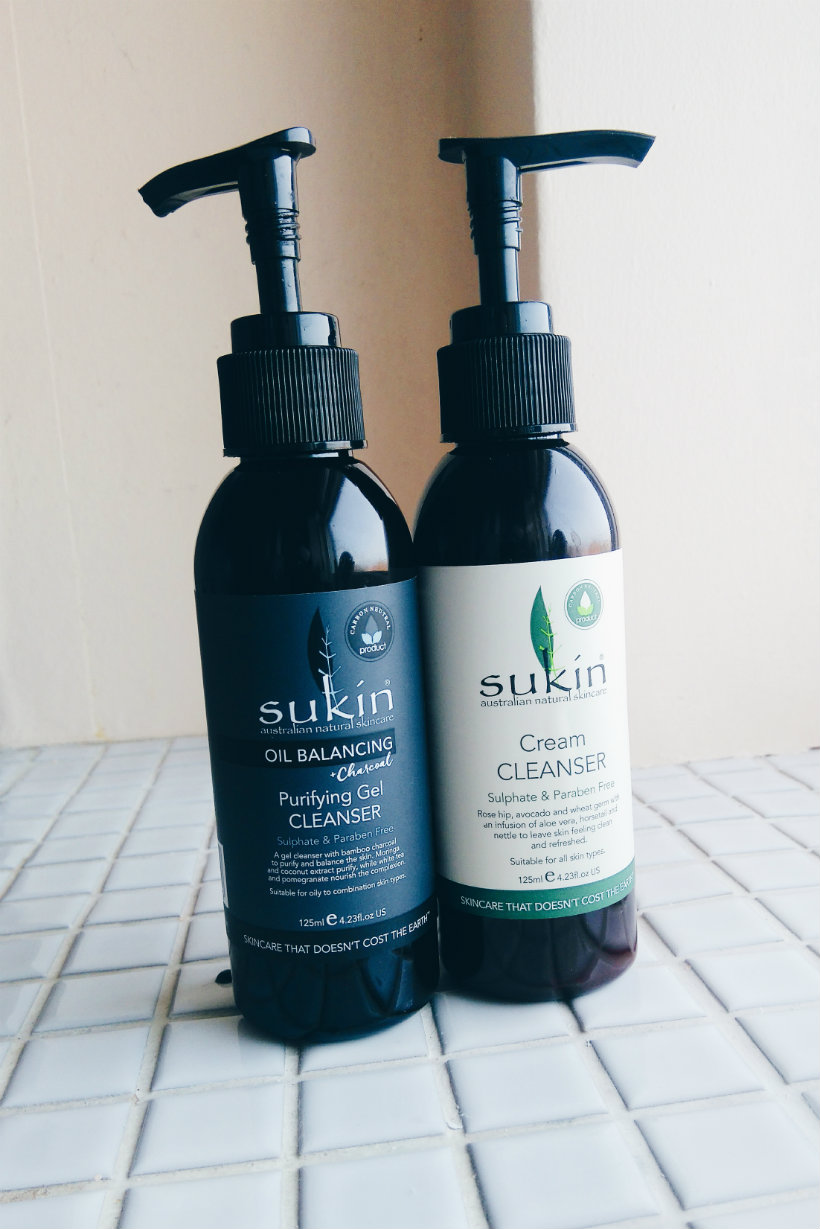 Sukin cleansers