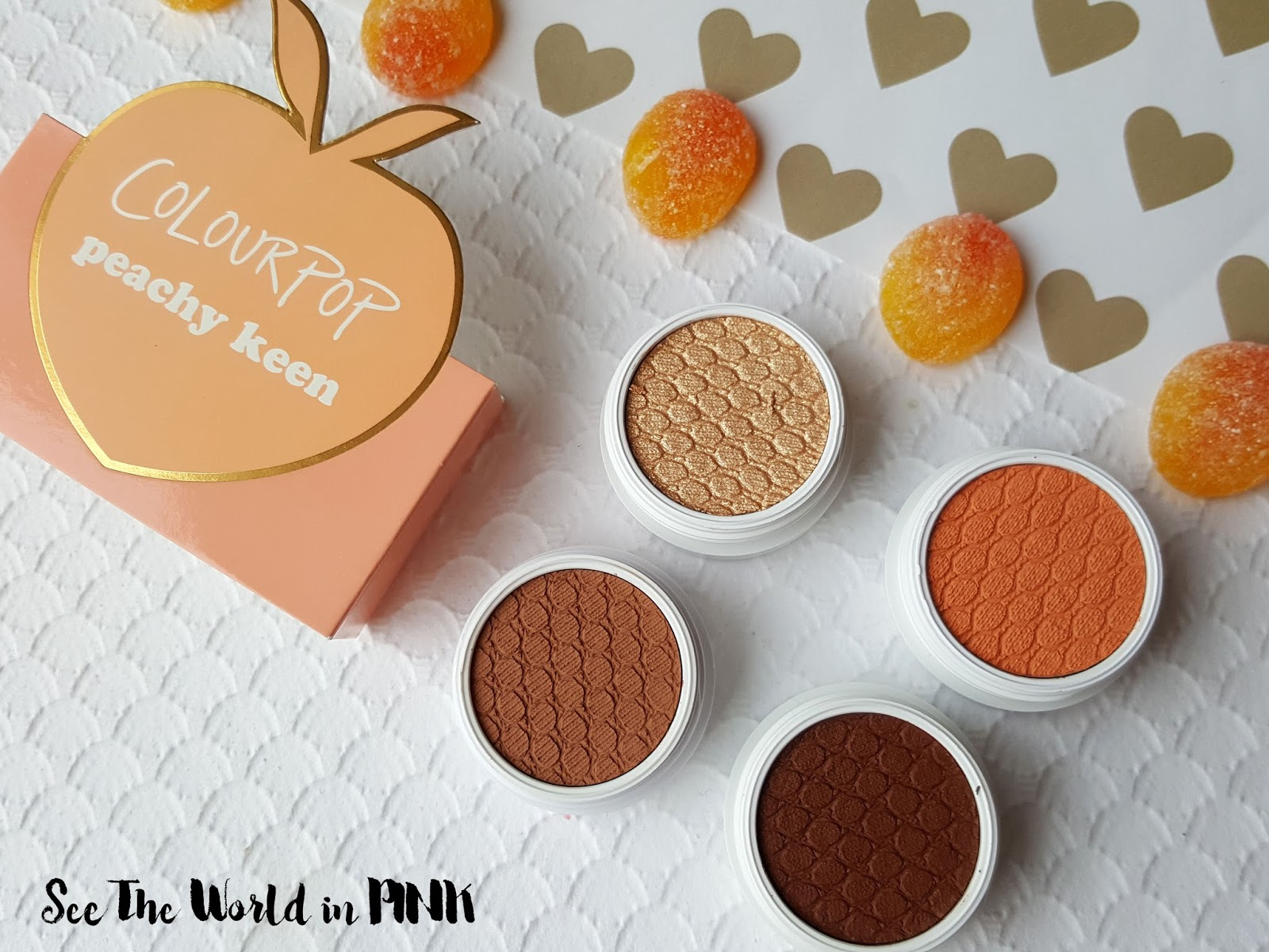 ColourPop Peachy Keen Super Shock Shadow Foursome - Reviews, Swatches, and Makeup Look!