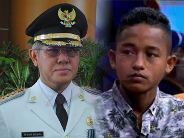 Johan Gonga Dukung Pendidikan Muhamad Reza Mangar