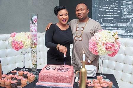 Photos From Tonto Dikeh Birthday Celebration With Husband, Oladunni Churchill