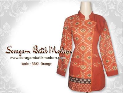 Model Baju Batik Guru Muslimah